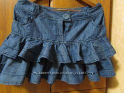 Модная джинсовая юбка фирмы Clockhouse.