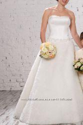 Свадебное платье бу очень нежное S, M