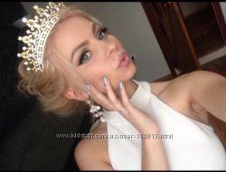 Королевская корона, диадема, тиара, для свадьбы или фотосессии