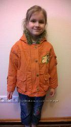 Парка, куртка демисезонная  Disney на девочку 3-5лет.