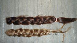 Две косы из натуральных волос