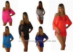 Пляжные туники - 4 модели, разные цвета
