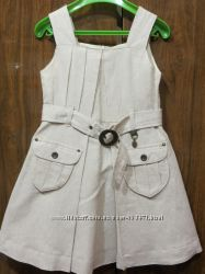 Новый хлопко-льняной сарафан Mayoral на подкладке , 5 лет, 110 cm