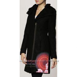 Новое буклированное шерстяное пальто Desigual AbrigJessy, IT 42, D 36