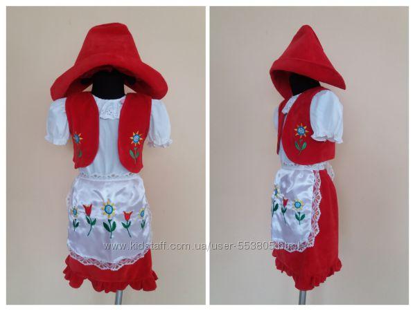 продажа карнавальный костюм Красная Шапочка 3-5 лет