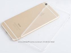 Прозрачный ультратнкий силиконовый чехол iphone 6 6S 7