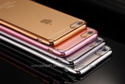 Чехол cиликоновый с ободами для Iphone 5 5S 6 6S 6 7PLUS
