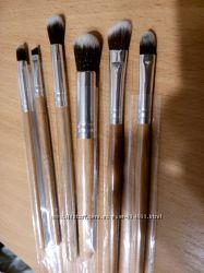 Кисти для макияжа глаз набор бамбук 6 штук