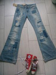 Новые джинсы клеш Ralph Lauren, тренд 2017 patchwork
