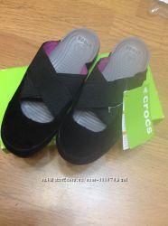 Стильные и комфортные замшевые Crocs Edie Mule по стельке 21, 5 см