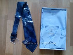 Новый комплект рубашка и галстук