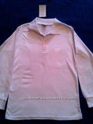 Белые рубашки-поло, Турция, длинный и короткий, рукав, размеры 140, 146