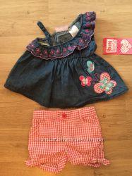 Красивый костюм летний для девочки 6-12 мес Young Hearts