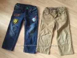 Джинсы H&M и брюки чиносы Denim 92-98 см