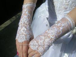 Новые свадебные перчатки