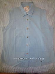 Новая хлопковая блуза рубашка-безрукавка Пр-во Индия.