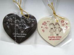 Шоколадні сердечка гостям весілля