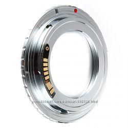Переходник М42  Canon EOS латунь с чипом, переходное кольцо для фотокамеры