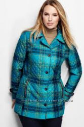 Женское деми пальто  Lands End Women&acutes Plus Size Quilted Primaloft Par