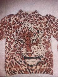 Кофта-джемпер р. 48-52 тигр стрейчевая дешево
