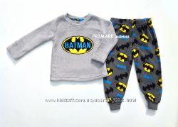 Флисовая пижама Бэтмен для мальчика 2-4 года