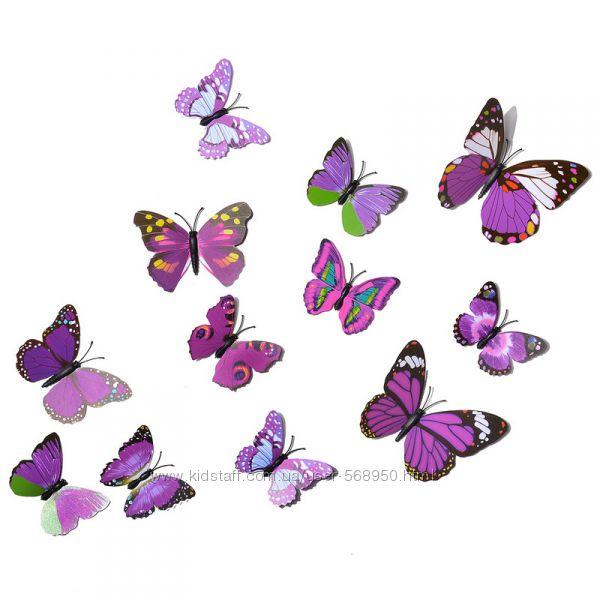 Декоративные бабочки, украшения на стену.