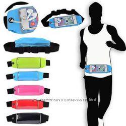 Спортивный чехол сумка бананка для смартфонов 5. 5 дюймов на пояс для бега