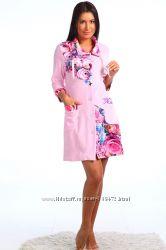 халатик велюр ооочень приятный и красивый 46р  1500 рублей  пижамка трикота