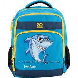 Легкий и практичный рюкзак школьный Gopack GO18-113M-2  акула,  1-3  класс
