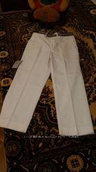 Белые женские штаны с ремнём. Новые, с бирками.