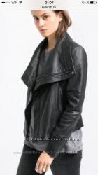Куртка из кожи mango