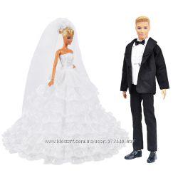 Нарядные, свадебные платья для Барби