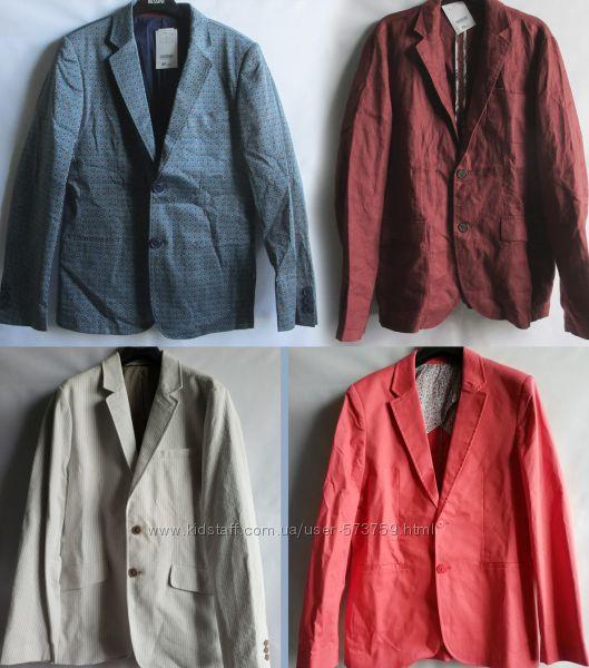 Блейзер пиджак стильный яркий хлопок лен Promod оригинал Франция Европа