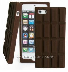 Силиконовый чехол-шоколадка для Iphone 4 4S 5 5S аромат шоколада