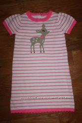 Красивое вязаное платье Джимбори с олененком