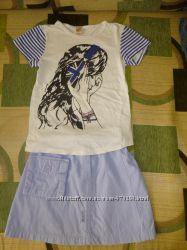 Комплект юбочка NEXT и футболочка Glorya Jeans