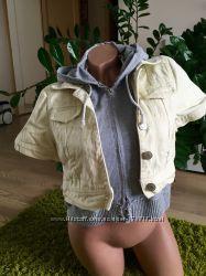 Летняя джинсовая куртка-обманка 44-46