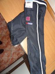 Темно-синие спорт брюки