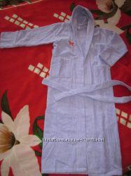 махровый халат 100 хлопок фиолетовый на 12-14 лет. отличное качество