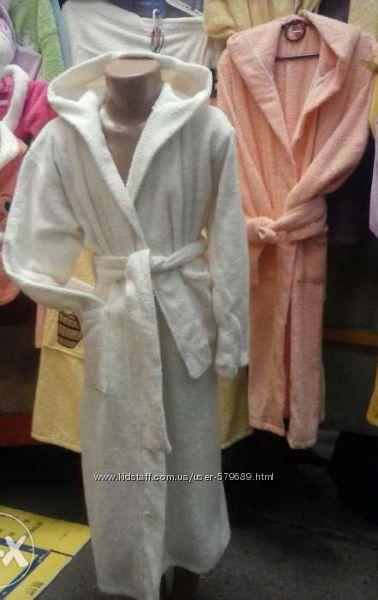 махровый халат 100 хлопок разные цвета от 4х до 12ти лет. отличное качество