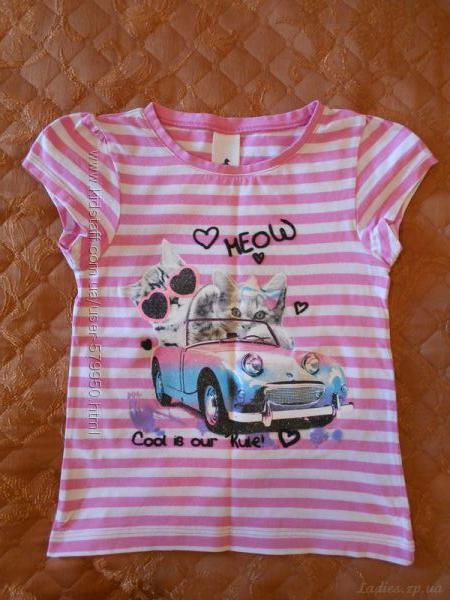 Продам футболку для девочки р110 бу