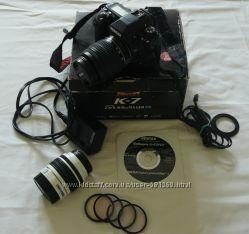 Цифровая фотокамера Pentax K-7 body 2 объектива 4 светофильтра