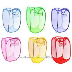 Сетка корзина для игрушек или белья, сетка-органайзер на коляску