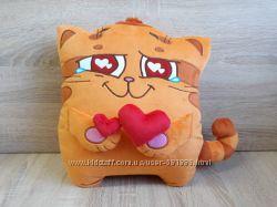 Мягкая игрушка - подушка стикер кот Манул из Телеграм Manool Telegram