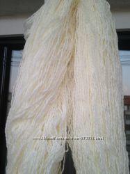 Пряжа белого цвета 115см