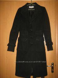 Женское шерстяное пальто, черного цвета р. S, Calvin Klein