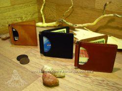Кожаный зажим для денег ручной работы