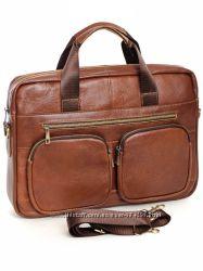 Мужская сумка портфель в наличии из натуральной кожи