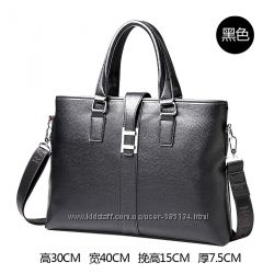 крутая кожанная сумка портфель можно как сумку для ноут бука исопльзовать