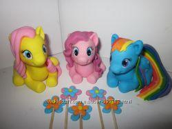 Little Pony литл пони пинки пай  сахарные фигурки из мастики на торт